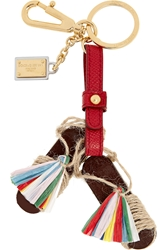 Dolce And Gabbana Tasseled Leather Keychain