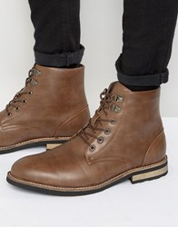 D Struct Borg Lined Boots Tan