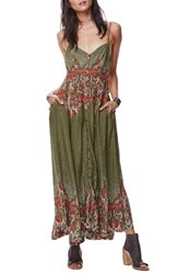 Free People Women's Be My Baby Maxi Dress Green Combo