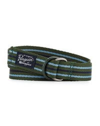 Original Penguin Multi Striped Pull Through Belt Green