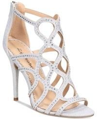 Bebe Daliyah Caged Dress Sandals Silver