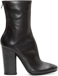 Haider Ackermann Black Leather Chunky Bronson Boots