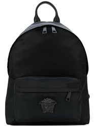 Versace Medusa Palazzo Backpack Men Nylon One Size Black