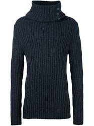A New Cross High Roll Neck Jumper Grey