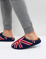 Dunlop Union Jack Slip On Slippers Blue
