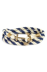Kiel James Patrick 'Peter Wence' Wrap Bracelet Navy White