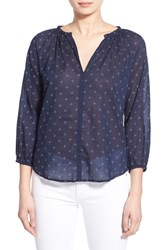 Women's Velvet By Graham And Spencer Cotton Voile Peasant Blouse Twinkle Multi