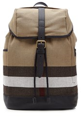 Burberry Shoes And Accessories Drifton Checked Jute Backpack Brown
