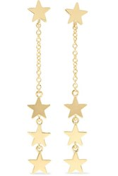 Jennifer Meyer Four Star 18 Karat Gold Earrings