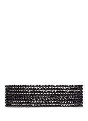 Kenneth Jay Lane Tiered Beaded Collar Necklace Black