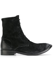 The Last Conspiracy Lace Up Boots Calf Suede Leather Black