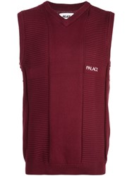 Palace Knitted Vest Red