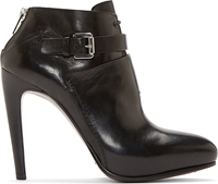 Cnc Costume National Black Leather Nappone Ankle Boots