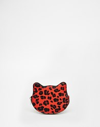 Asos Leopard Coin Purse Red
