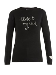 Bella Freud Close To My Heart Cashmere Sweater Black