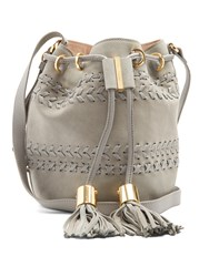 See By Chloe Vicki Small Suede And Leather Bucket Bag Light Grey