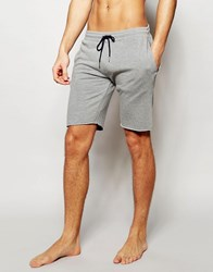 Esprit Jersey Lounge Shorts In Slim Fit Grey