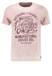Petrol Industries Print Tshirt Maroon Red