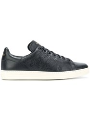 Tom Ford Low Top Sneakers Leather Rubber Black