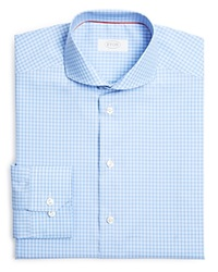 Eton Of Sweden Check Regular Fit Dress Shirt Blue