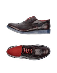 Gold Brothers Lace Up Shoes Maroon