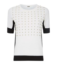 Elie Tahari Selina Beaded Jumper Female White
