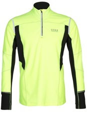 Gore Running Wear Mythos 2.0 Thermo Long Sleeved Top Neon Yellow Black