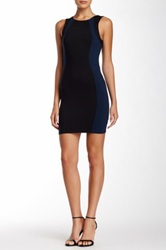 David Lerner Sleeveless Colorblock Mini Dress Blue