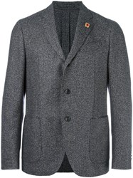 Lardini Herringbone Blazer Brown