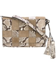 Michael Michael Kors Medium 'Vivian' Crossbody Bag Nude And Neutrals