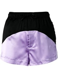 Marcelo Burlon County Of Milan Two Tone Track Shorts Purple