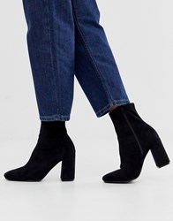 Pimkie Suedette High Ankle Boot In Black