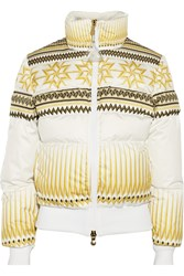Pyrenex Alexandre Vauthier Printed Shell Down Coat White