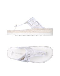 Macarena Footwear Toe Post Sandals White