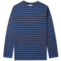 Mhl By Margaret Howell Mhl. Long Sleeve Matelot Tee Blue
