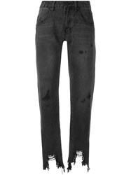 One Teaspoon Awesome Baggies Cropped Jeans Black