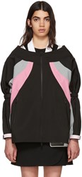 Prada Black And Pink Colorblock Track Jacket