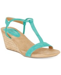 Styleandco. Style Co Mulan Wedge Sandals Created For Macy's Women's Shoes Teal