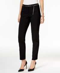 Jm Collection Belted Ankle Pants Only At Macy's Deep Black