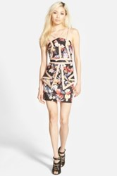 Whitney Eve 'The Baths' Strappy Floral Print Dress Juniors Multi