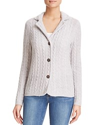 Bloomingdale's C By Cable Knit Cashmere Blazer Cement