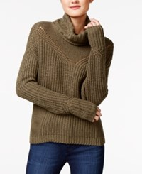 American Rag Cutout Back Turtleneck Sweater Only At Macy's Dusty Olive