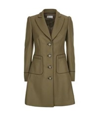 Red Valentino Fitted Military Coat Green