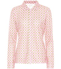 Tory Sport Floral Printed Jersey Top Pink