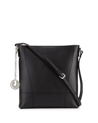 Charles Jourdan Nira Laser Cut Leather Crossbody Bag Black