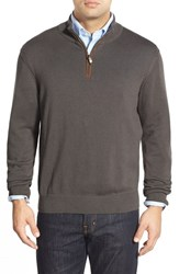 Men's Vineyard Vines 'Round Hill' Quarter Zip Sweater With Suede Elbow Patches