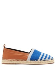 Loewe Canvas And Leather Espadrilles Blue Multi