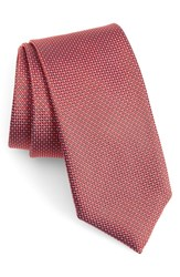 Boss Solid Silk Tie Red