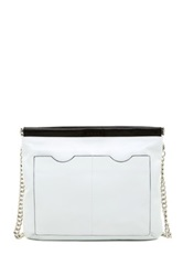 L.A.M.B. Glenda Convertible Leather Shoulder Bag White