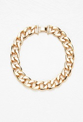Forever 21 Short Curb Chain Necklace Gold
